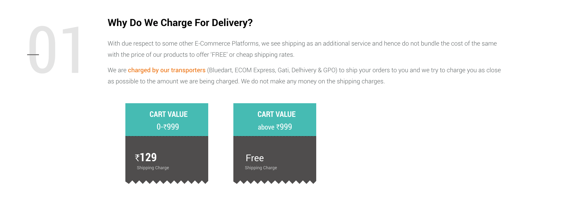 Decathlon Delivery Charges