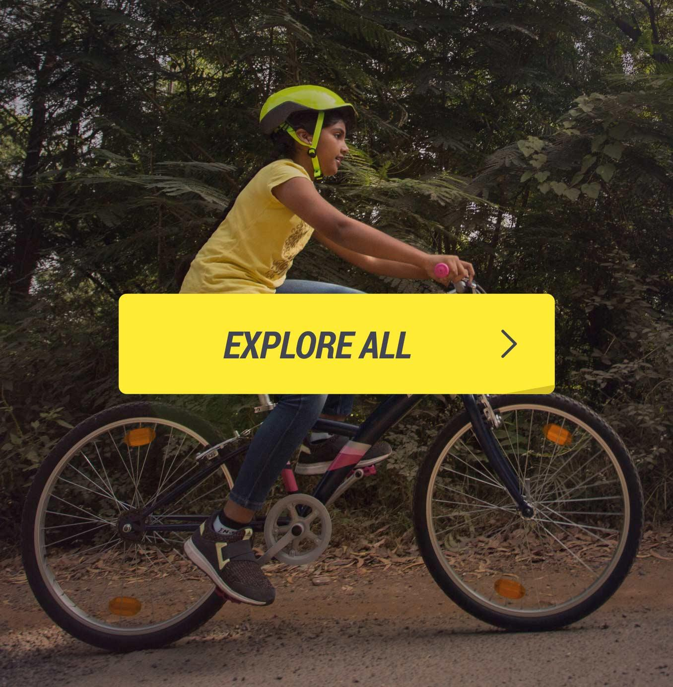 Kids Cycling Footer