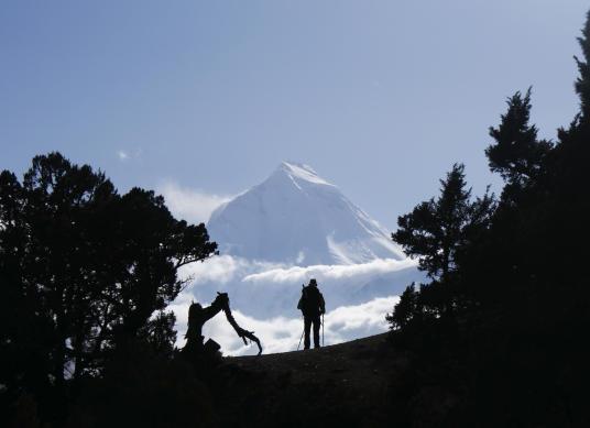 photo d'un trek dans les annapurnas