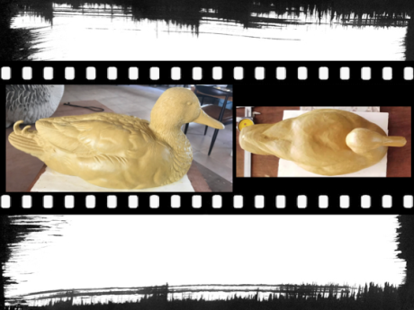 Formes de canard colvert en pate