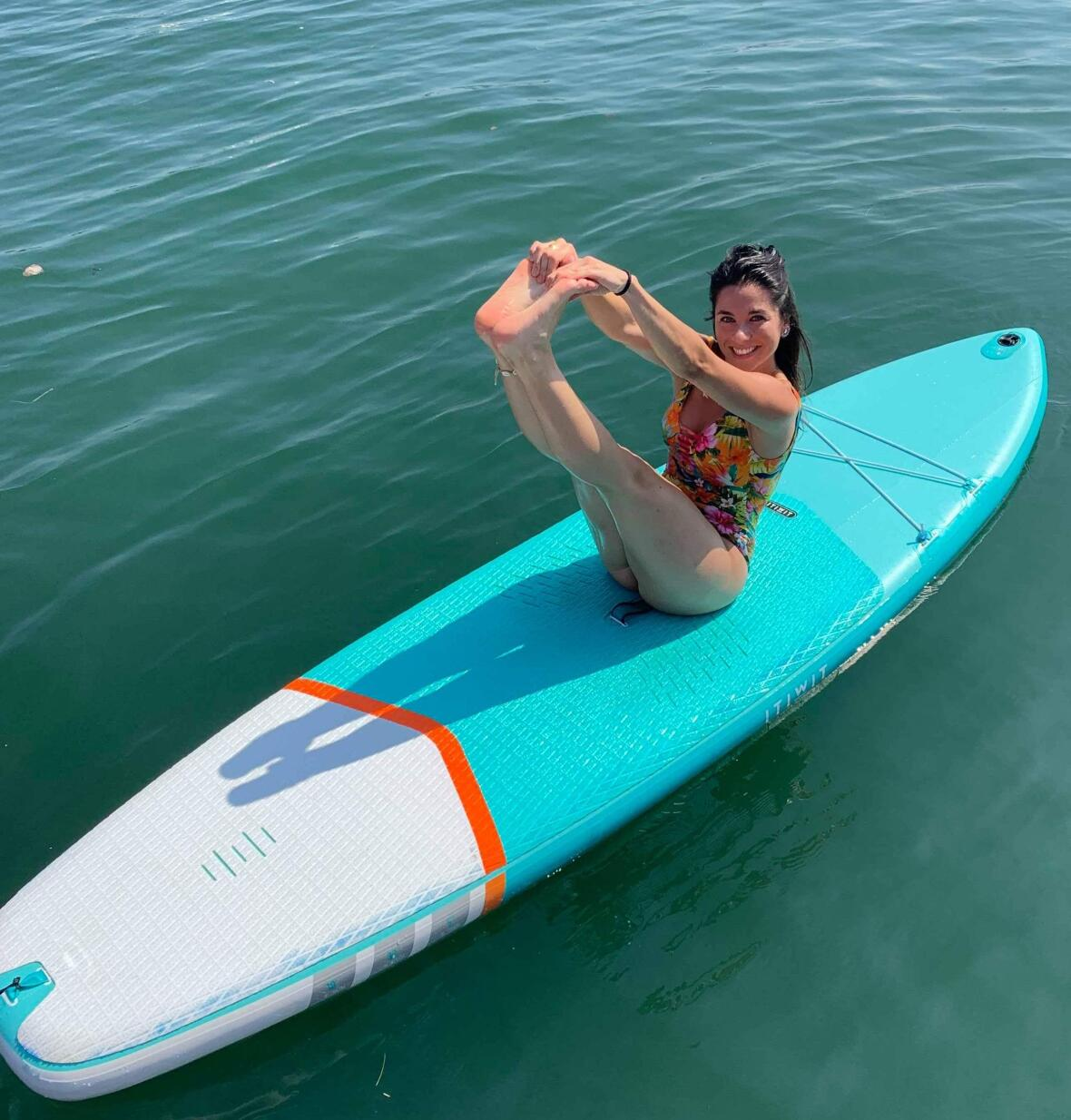 pilates sur stand up paddle