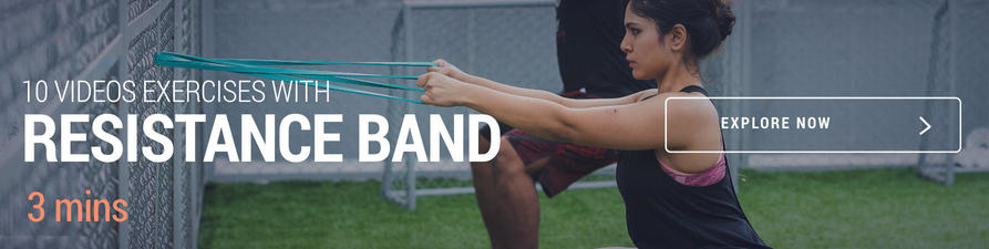 Exercise videos with resistance band