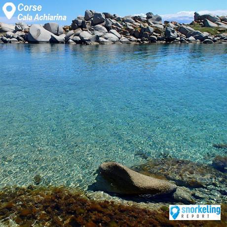 Spot snorkeling Cala Achiarina aux Îles Lavezzi