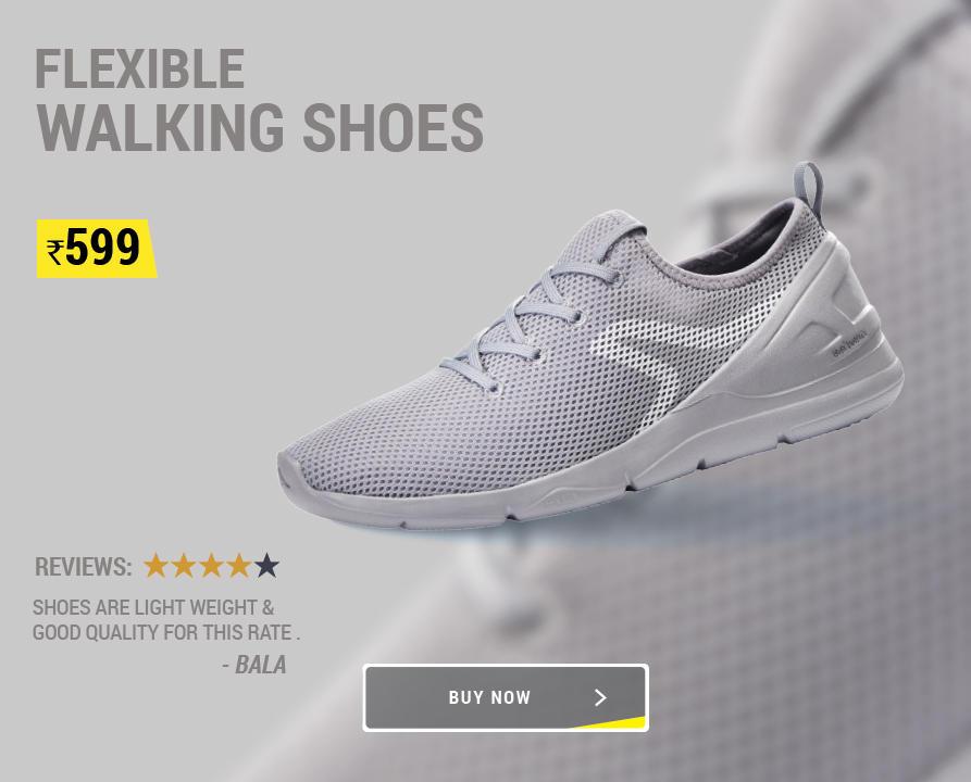 Walking Shoe HP Main Multiple Banner