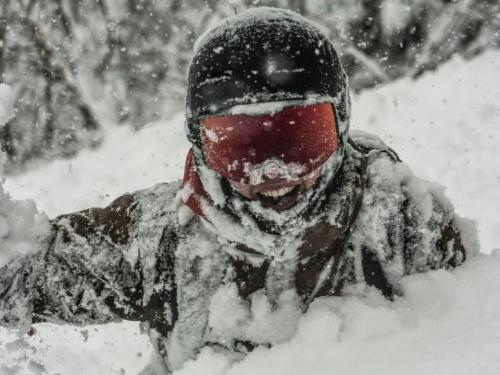 snowboarder's helmet
