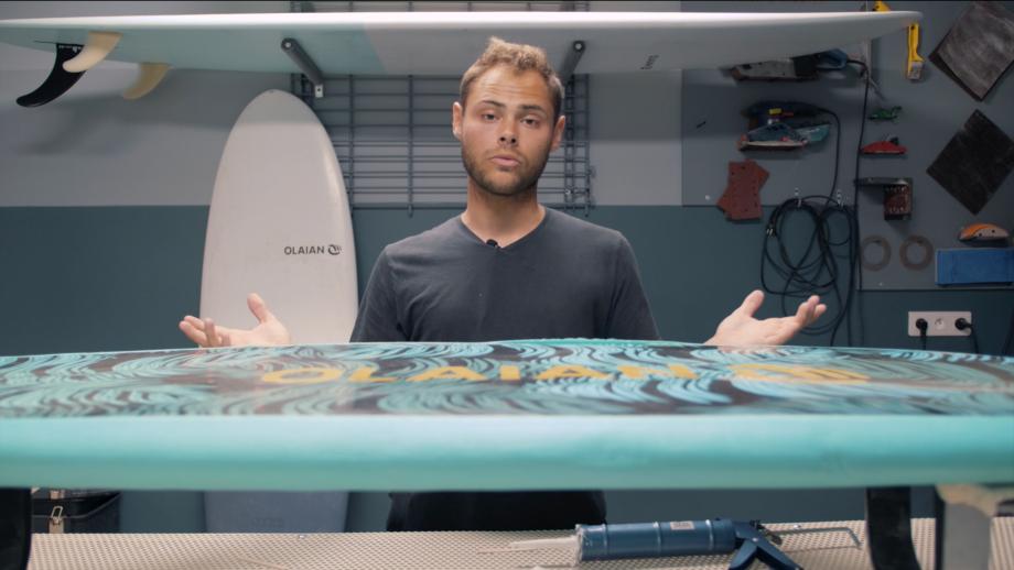 réparer une planche de surf en mousse