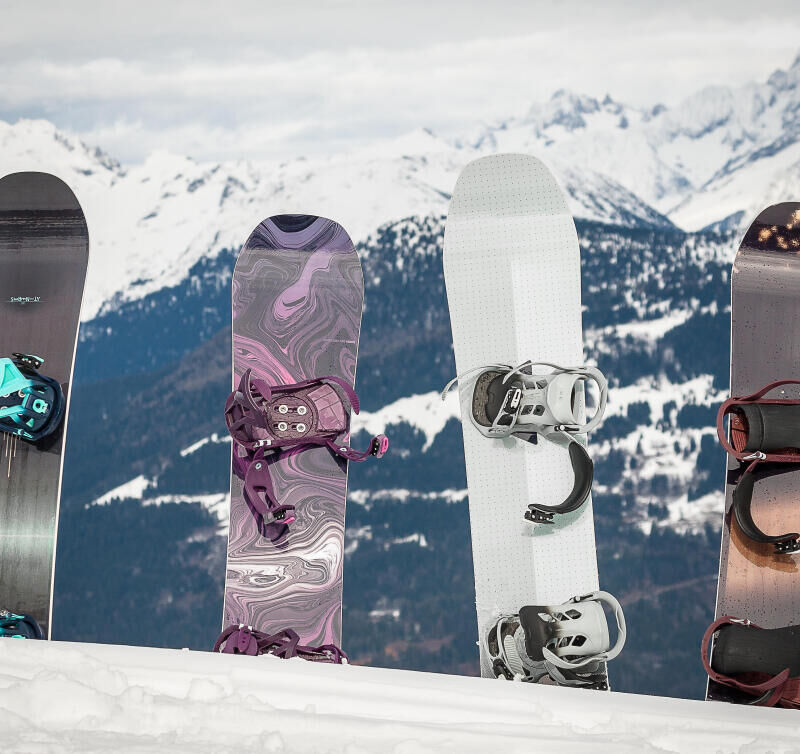Technical features of a snowboard - background