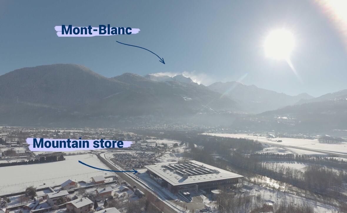 moutain store decathlon centre de conception au pied du mont blanc