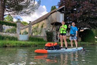 stand up paddle tandem canal ourcq