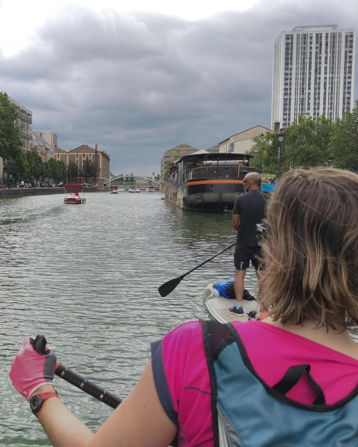 stand up paddle tandem trip itiwit canal ourcq