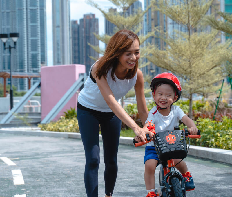 Teach your child to ride a bike