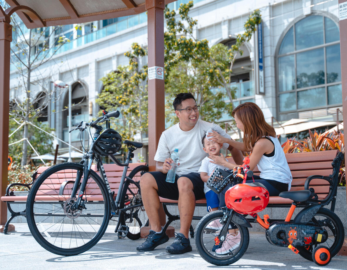 Happy memories of bike riding with your family