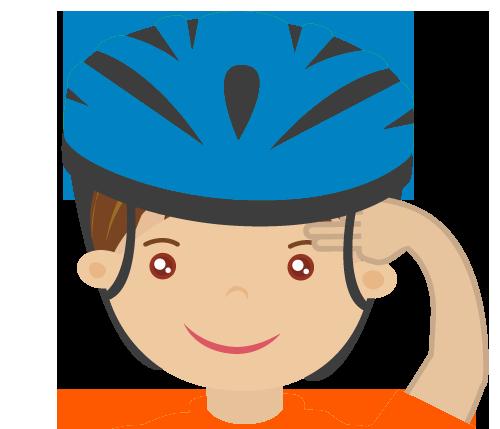 佩戴頭盔四部曲:戴上頭盔