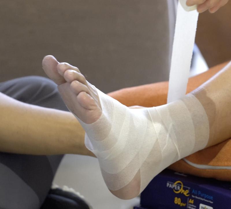 籃球|5個步驟教你包紮腳踭預防拗柴