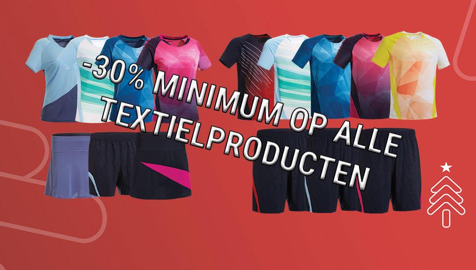 -30% op textielproducten
