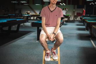 Brian Ochoiski, 21 ans et joueur professionnel de Snooker