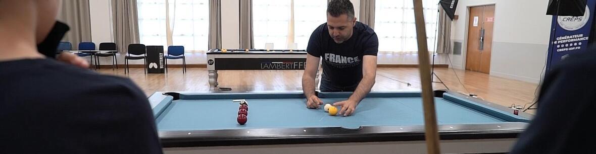 Nicolas Henric, sélectionneur des équipes de France de Blackball (billard anglais)