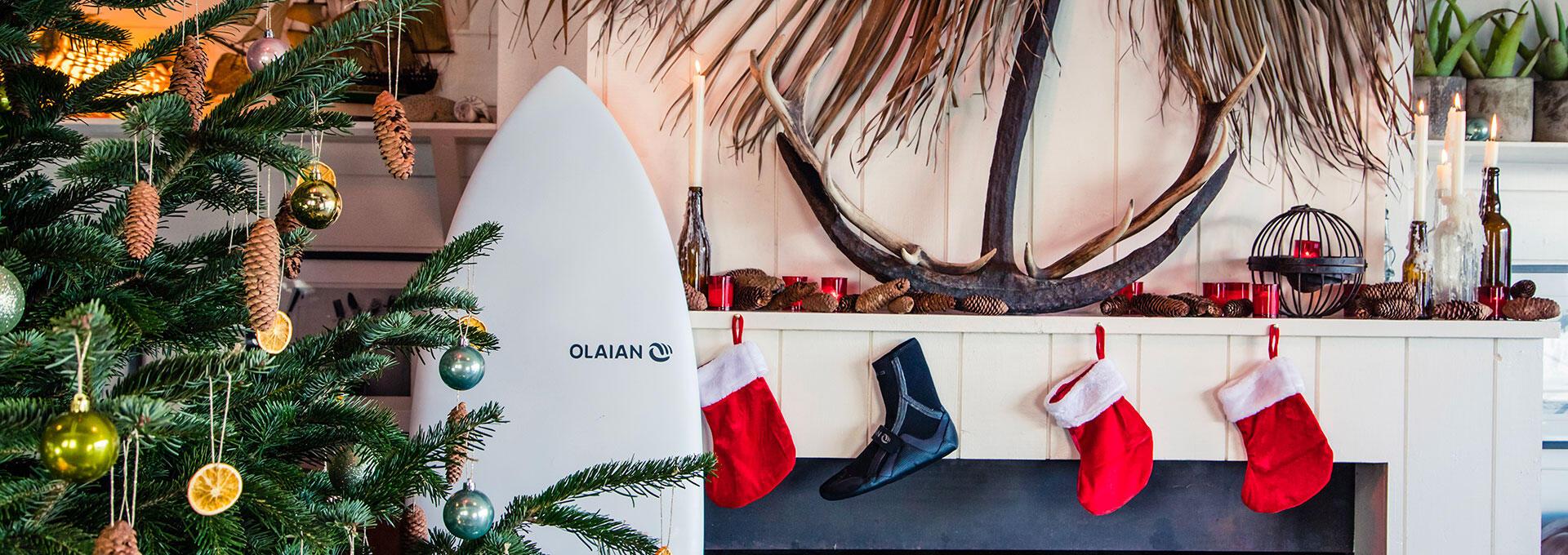 Sapin de Noël des surfeurs