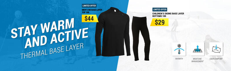 STAY WARM AND ACTIVE Thermal Base Layer