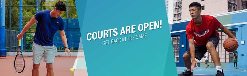 Courts are open! Get back in the game