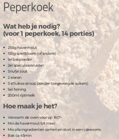 Recept: Peperkoek