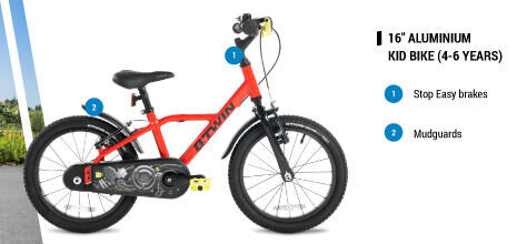 """16"""" Aluminium light kid bike for 4 - 6 years old"""