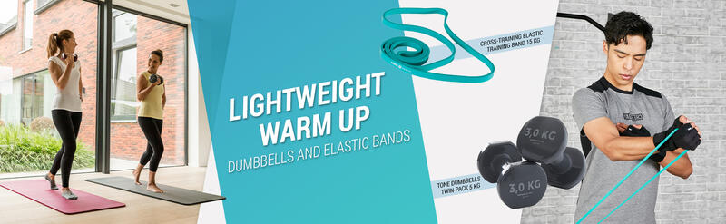 Lightweight Warm Up Dumbbells And Elastic Bands