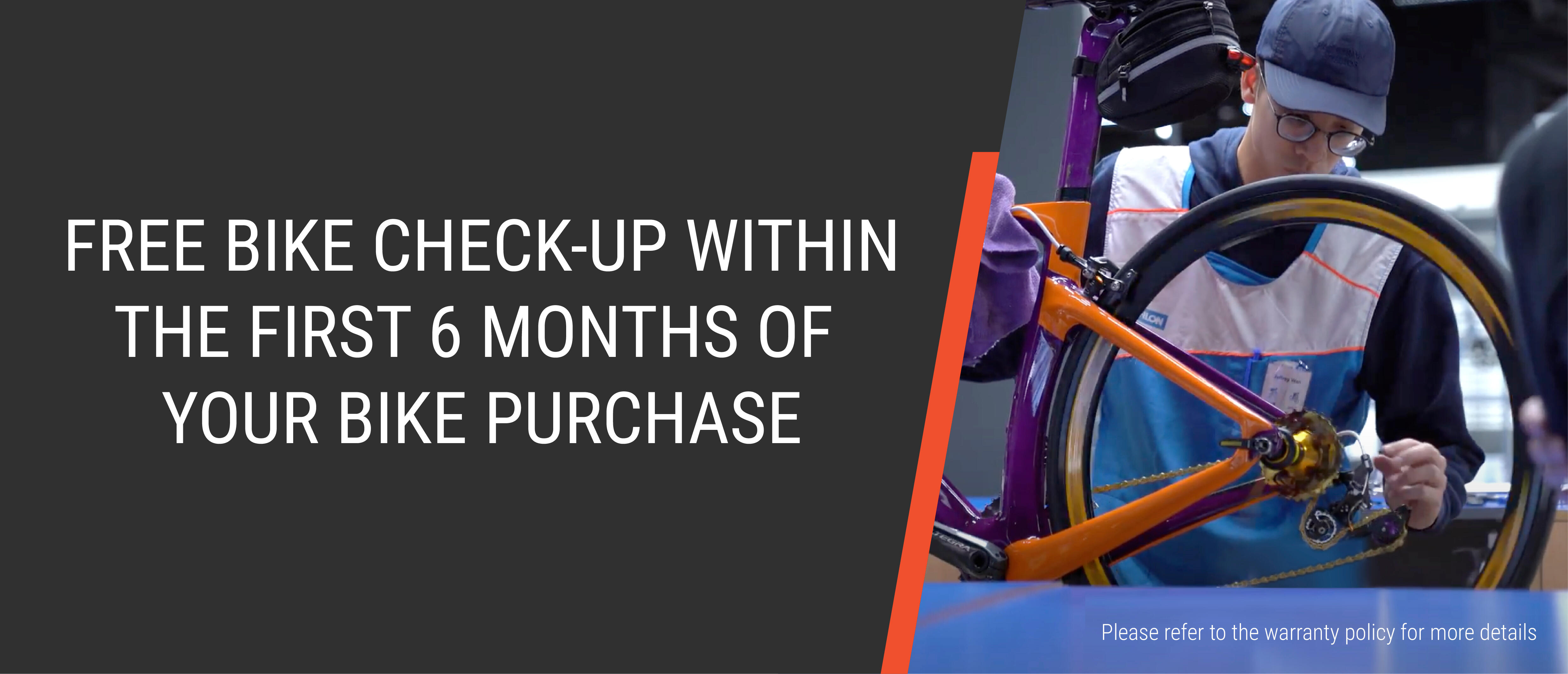 Decathlon Cycling Workshop - Free bike check-up within the first 6 months of purchase