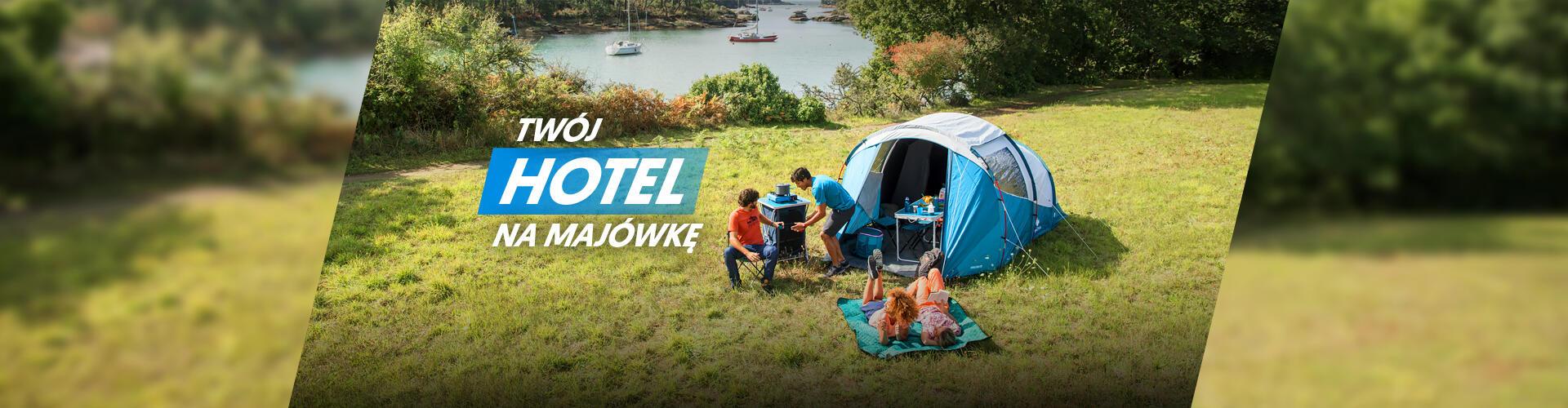 Hotel na majówkę - kemping, namioty, meble, śpiwory