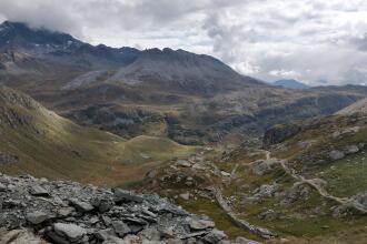 trekking route in the vanoise