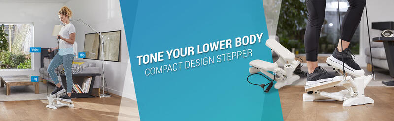 Tone your lower body Compact design stepper