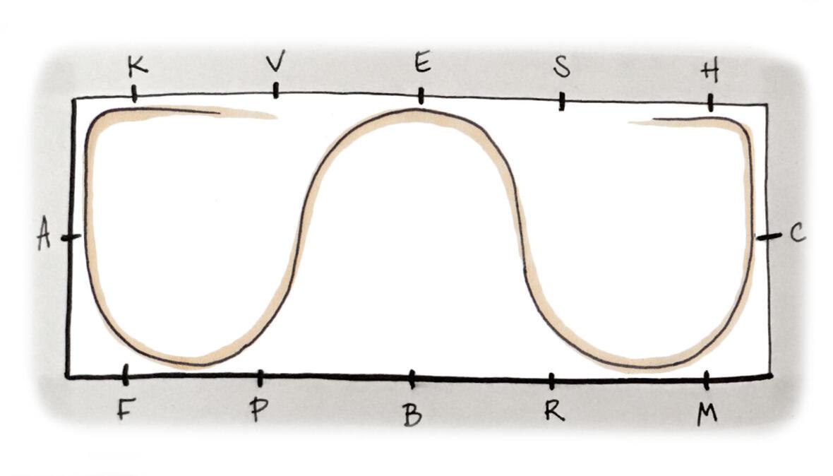 Exercice de la serpentine de 3 boucles