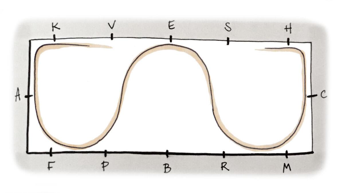 De slangenvolte met 3 bogen