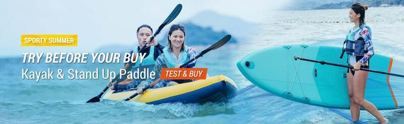 TRY BEFORE YOUR BUY New Kayak & Stand Up Paddle Test & Buy