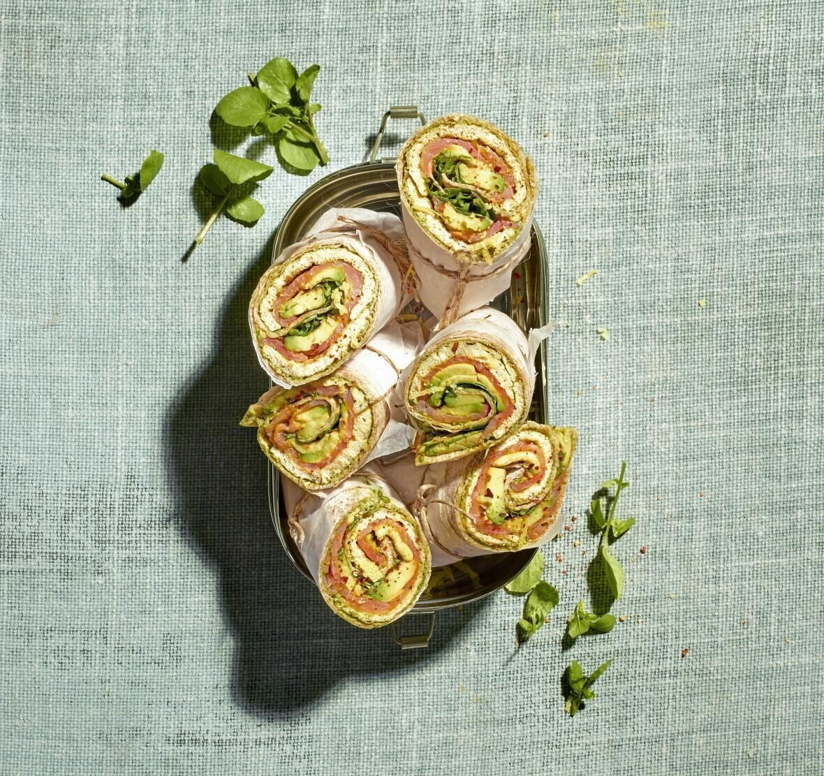 Wraps à l'omelette et au saumon fumé