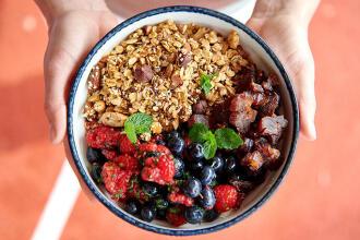 Recept Delhaize: Smoothie bowl