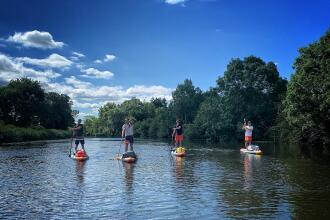 Descente de La Lesse en Stand Up Paddle compact