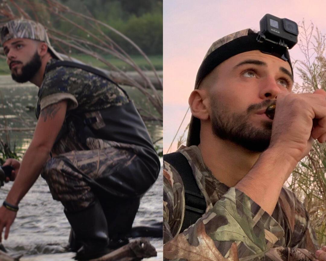 Alexandre et Dylan en pleine action de chasse au gibier d'eau