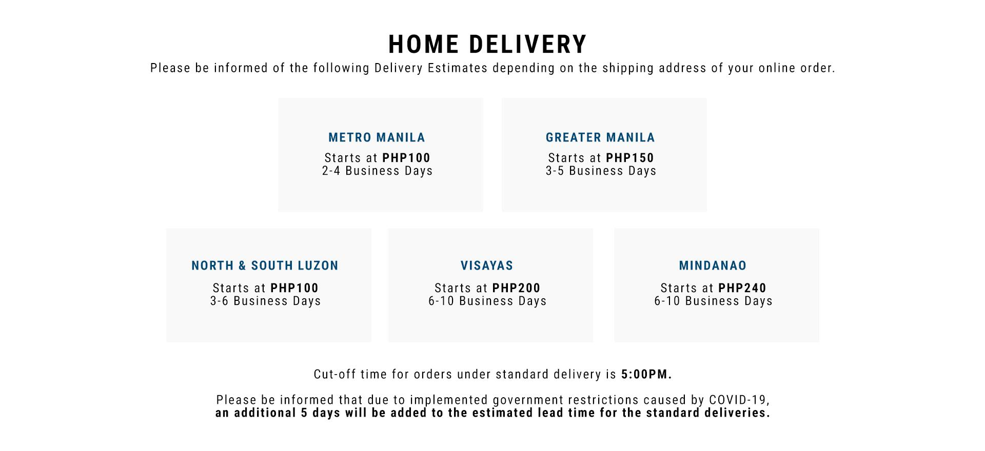 Home Delivery and Next Day Delivery