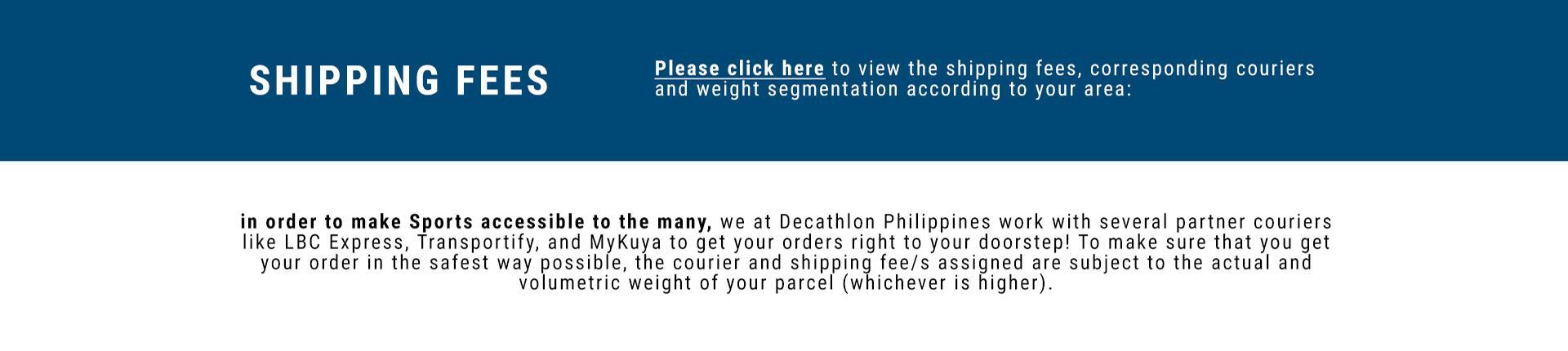 Shipping Fees Breakdown