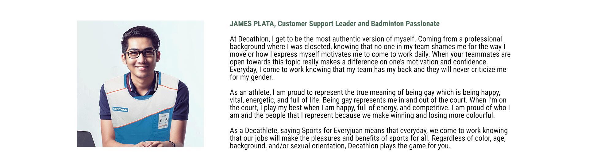 Decathlon Philippines Sustainability - James Plata