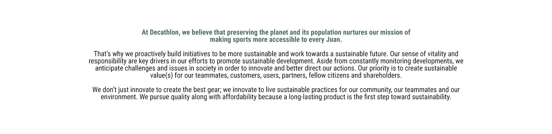 Decathlon Philippines Sustainability