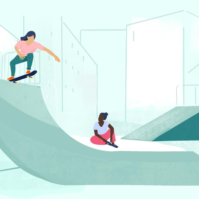 Le skate féminin, enfin!
